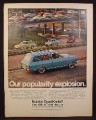 Magazine Ad for Buick Opel Kadett Station Wagon, Coupes & Sedans on Freeway, 1967