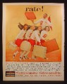 Magazine Ad for Samsonite Streamlite Luggage, Beauty Case, Hat Box, Cheerleaders, 1960
