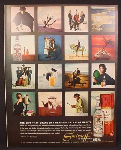 Magazine Ad for Smirnoff Vodka, 15 Magazine Ad Photos, 1961