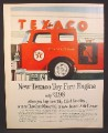 Magazine Ad for Texaco Fire Engine Toy, Available When You Bought Gas or Oil, 1962