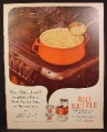 Magazine Ad for Campbell's Red Kettle Chicken Noodle Soup Mix, Dry Mix in Cans, 1962