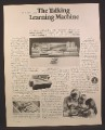 Magazine Ad for Mattel Talking Learning Machine Toy, Plays Talking Tiles, 1967