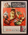 Magazine Ad for Avon For Men, Tribute Gavel Mallard, Western Choice, First Edition, 1967