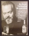 Magazine Ad for Jim Beam Kentucky Bourbon Whiskey, Orson Welles, Celebrity Endorsement