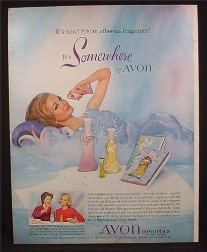 Magazine Ad For Avon Somewhere Fragrance, Cologne, Cologne Mist, 1961