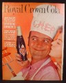 Magazine Ad For RC Royal Crown Cola, Pretend Magazine Cover, Man with Chef Hat, 1961