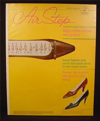 Magazine Ad For Air Step Women's Shoes, Grecian Stag Models, 1961