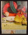 Magazine Ad For Hallmark Plans-A-Party Luau, Kitty Kat Party, Plans A Party Kits, 1961