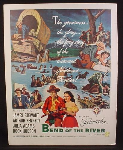 Magazine Ad For Bend Of The River Movie, Western, James Stewart, Poster, 1952
