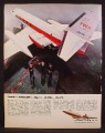 Magazine Ad For Lockheed Dash 8 JetStar, Used By TWA, 1968