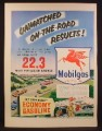 Magazine Ad For Mobilgas, Red Winged Horse, Service Station, 1953