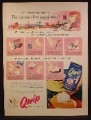 Magazine Ad For Qwip Table Cream Dessert Topping, Spray Can, 1953