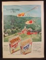 Magazine Ad For Wheat Chex & Rice Chex Cereal, Aerial View of Farm, 1953