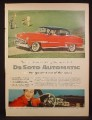 Magazine Ad For DeSoto Automatic Car, red & Black Front & Side View, Interior Dash, 1954