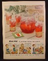 Magazine Ad For Kool-Aid in Packet, 5 Cents Makes 2 Quarts, Kool Aid, 1954