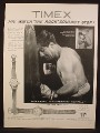 Magazine Ad For Timex Watches, Watch, Rocky Marciano, Celebrity Endorsement, 1954