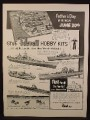 Magazine Ad For Revell Hobby Kits, Models, Model Ships, U.S.S. Missouri Nautilus, 1954