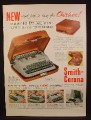 Magazine Ad For Smith-Corona Silent-Super Portable Typewriter in Holiday Case, 1954