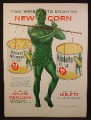 Magazine Ad For Niblets Whole Kernel & Mexicorn, Green Giant with 2 Cans, 1954