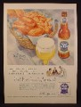 Magazine Ad For Pabst Blue Ribbon Beer, Basket of Fried Chicken, 1954