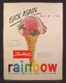 Magazine Ad For Sealtest Rainbow Ice Cream, Cone, Back Again, Rainbow Of Flavors, 1954