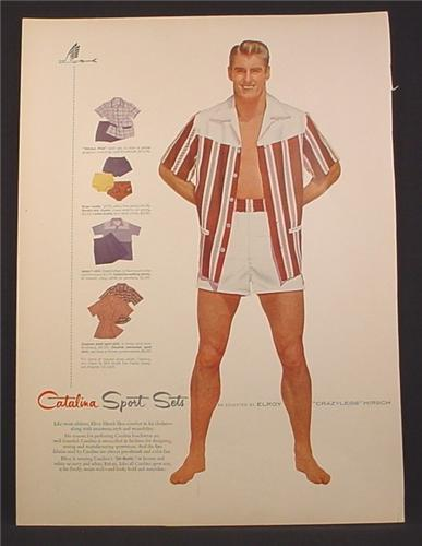 9cf121d782 Magazine Ad For Catalina Sport Sets, Swimwear for Men, Beach Wear, 1954 -  Magazines Ads and Books Store