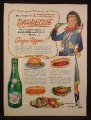 Magazine Ad For Canada Dry Ginger Ale, Annie Oakley Cowgirl TV Show, Barbecue, 1954