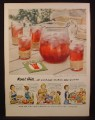 Magazine Ad For Kool-Aid, Kool Aid in Packet, Makes 2 Quarts, Pitcher, 1954