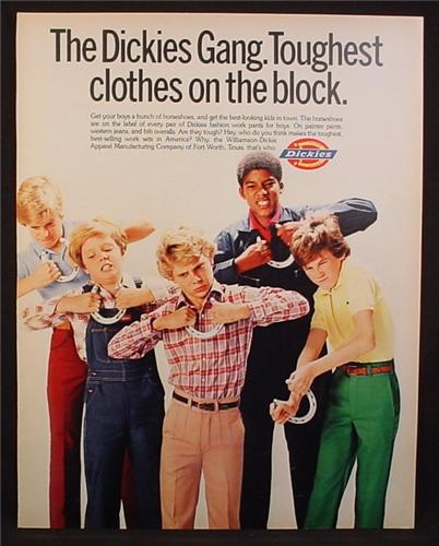 35e298636 Magazine Ad For Dickies Clothing for Kids, Toughest Clothes On The Block,  1982