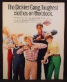 Magazine Ad For Dickies Clothing for Kids, Toughest Clothes On The Block, 1982