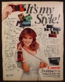 Magazine Ad For Cannon Snappy 50/20 Camera, Pretty Woman, It's My Style, 1982