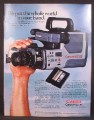 Magazine Ad For Canon Canovision 8 Movie Camera, Cassette Film, 1985