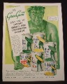 Magazine Ad For Green Giant Asks You To Support Canada's Food Conservation Program, 1945