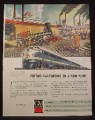Magazine Ad For GM General Motors, Missouri Pacific Railroad, First Engine & New Diesel, 1945