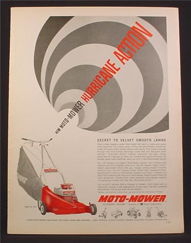 Magazine Ad For Moto-Mower Model No 204 Gas Lawn Mower, 1965