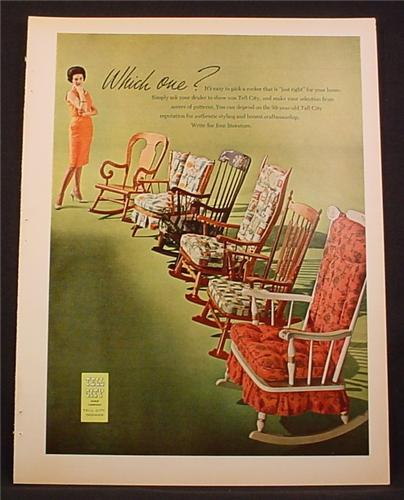 Magazine Ad For Tell City Chair Company, Rocking Chairs, 1964