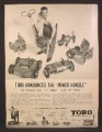 Magazine Ad For Toro Power Handle, Moves From One Garden Machine To Another, 1955