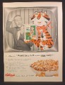 Magazine Ad For Kellogg's Sugar Frosted Flakes Cereal, Tony The Tiger & Gary Moore on TV, 1955