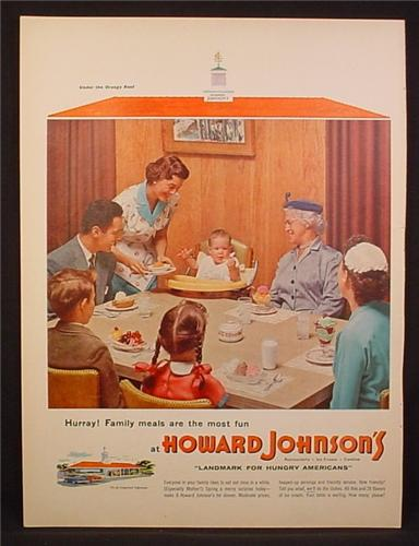 Hurry! Family meals are the most fun at Howard Johnson's print advertisement