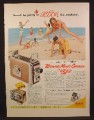 Magazine Ad For Brownie Movie Camera, 8mm, Movie Projector, People On The Beach, 1955