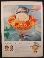 Magazine Ad For Wheaties Cereal with Ice Cream, Betty Crocker, General Mills, 1956