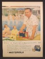 Magazine Ad For Motorola Portable Radio, Dick Powell, Celebrity Endorsement, 1956,