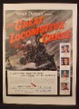 Magazine Ad For Walt Disney The Great Locomotive Chase Movie, Fess Parker, Poster, 1956