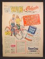 Magazine Ad For Snow Crop Lemonade Contest, Win A Columbia Fire-Arrow Bicycle, 1957