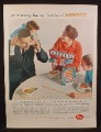 Magazine Ad For Post Alpha-Bits Cereal, Happy Birthday Dad Spelled Out On The Table, 1959
