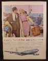 Magazine Ad For Pan American Airline, Pan Am, Let Yourself Go, Jet Clipper to Europe, 1959