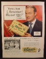 Magazine Ad For Whitman's Chocolates & Confections Sampler Box, Bob Hope, Celebrity 1950