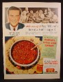 Magazine Ad For Hormel Chile Con Carne, Ray Milland, Celebrity Endorsement, 1950