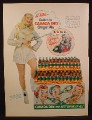 Magazine Ad For Canada Dry Ginger Ale, Stack of Cartons, Super Circus TV, Mary Hartline, 1952