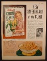 Magazine Ad For Kellogg's Corn Flakes Cereal, New Sweetheart Of the Corn Girl On Box, 1953